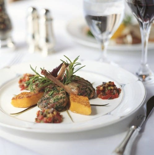 Crytal's gourmet cuisine is just one of the attractive features of this ultra-luxury cruise line.  Image courtesy of Crystal Cruises.