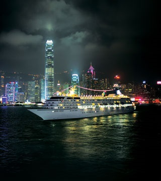Crystal Symphony in Hong Kong Photo courtesy of Crystal Cruises