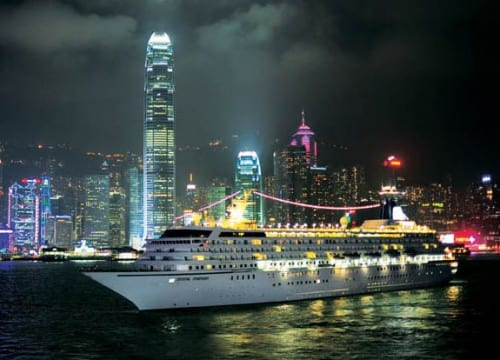 Crystal Symphony in Hong Kong (Photo Courtesy of Crystal Cruises)